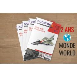 Abonnement COCARDES INTERNATIONAL Version française 2 ans