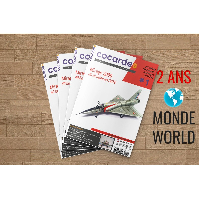 Abonnement COCARDES INTERNATIONAL Version française 2 ans