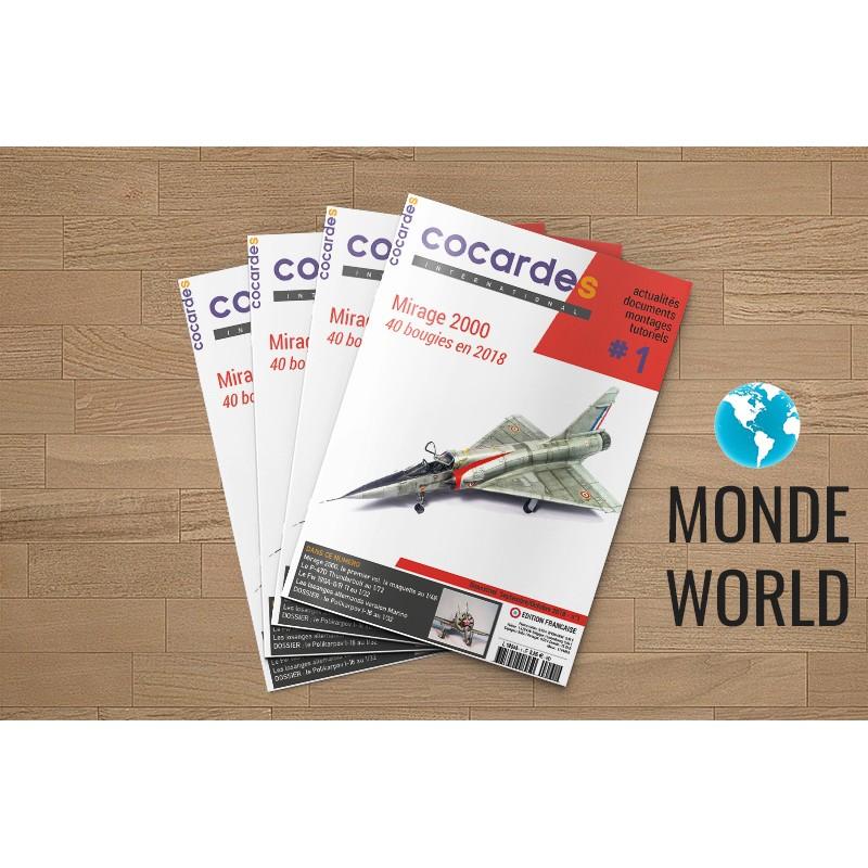 Abonnement COCARDES INTERNATIONAL Version française 1 an